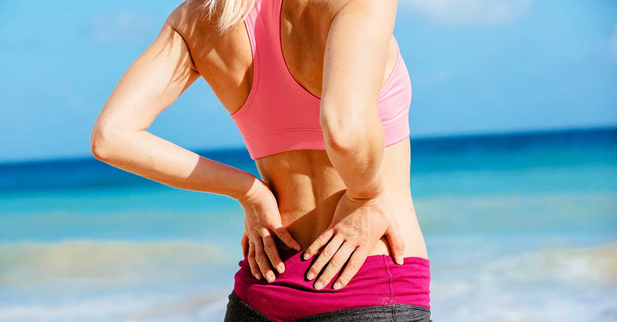 Lower back sports injury